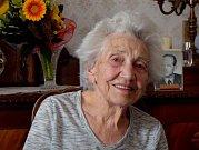 Růžena Málková z Čáslavi oslavila 101. narozeniny