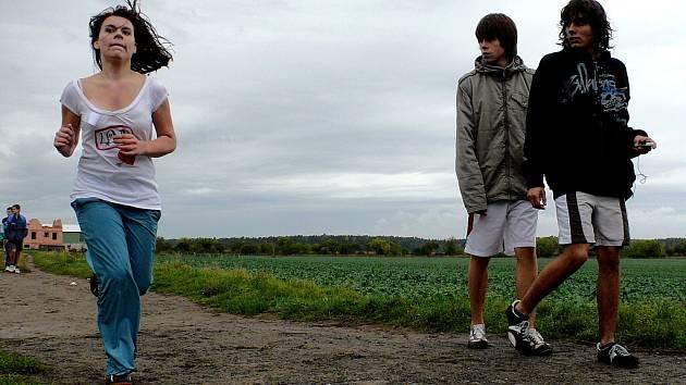 Krajské kolo závodů v přespolním běhu v Žehušicích