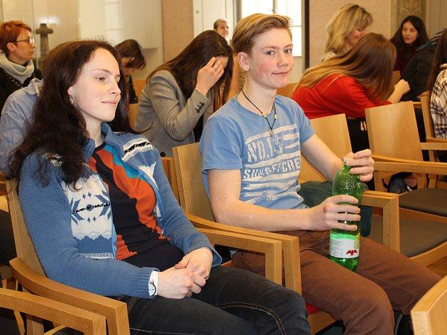 V Dačického domě zněly v úterý dopoledne verše v podání mladých recitátorů.