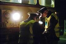 Nehoda na železničním přejezdu v Koudelově. 3.11.2011
