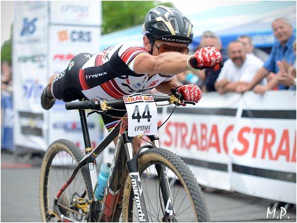 Český pohár horských kol vKutné Hoře opanoval Miguel Martinez, 15.června 2014.