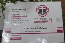 Obecní knihovna v Bohdanči oslavovala ocenění Středočeský Kramerius