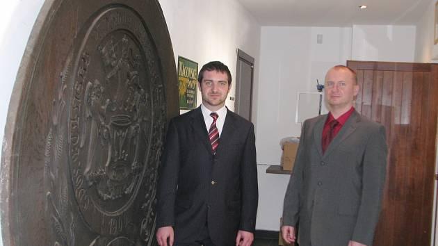 Sládek Josef Zvoník (vlevo) a obchodní ředitel Jan Matějka (vpravo)