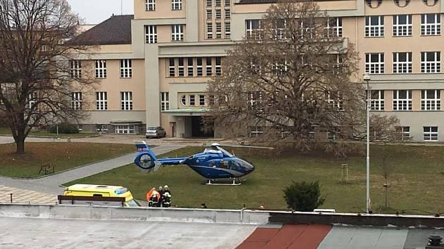 Dopravní nehoda v Masarykově ulici v Kutné Hoře.