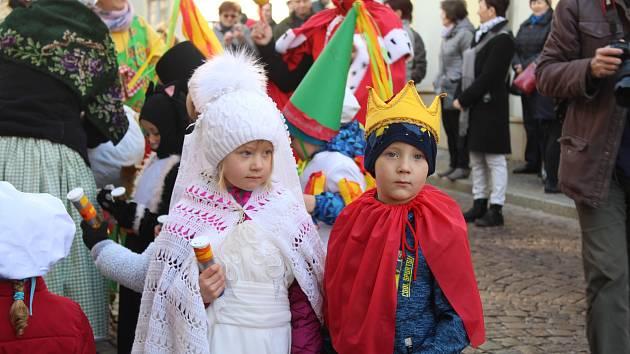 Mateřská škola Pohádka podvacáté zorganizovala masopustní průvod.