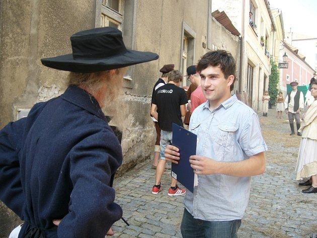 Režisér a scenárista Jaroslav Beran při natáčení snímku Sirotek.