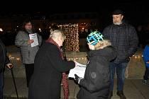 Z předvánoční demonstrace za odstoupení premiéra Andreje Babiše v Čáslavi.