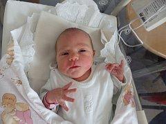 Eliška Ungerová se narodila 7. května vČáslavi. Vážila 3160 gramů a měřila 49 centimetrů. Doma vKutné Hoře ji přivítali maminka Barbora a tatínek Jan