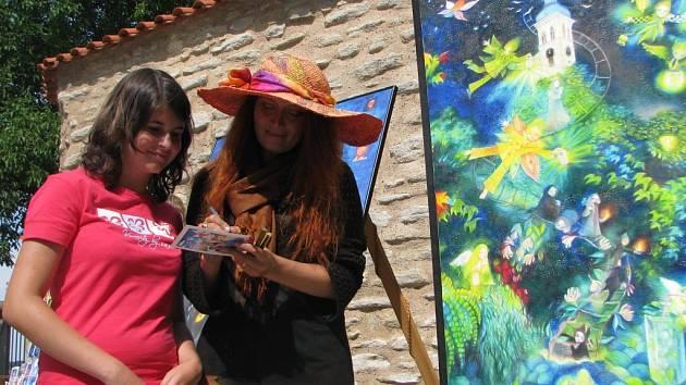 Marie Brožová domalovala obraz inspirovaný Kutnou Horou.