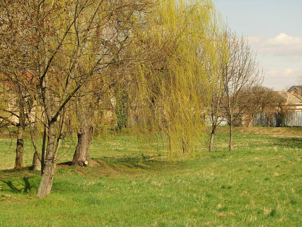 O velikonoční neděli by v těchto místech duněly kolotoče Sedlecké pouti.