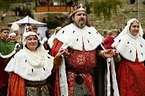 Z Průvodu králů vládnoucí v českých zemích v období gotiky konaný v Kutné Hoře 18. září 2021.