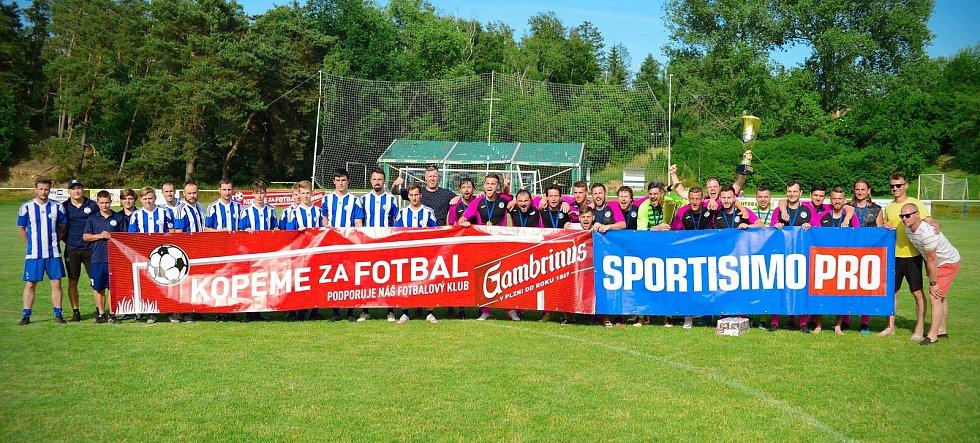 Finále středočeské Ligy mistrů OFS vyhrál v neděli 27. června 2021 domácí Sokol Kaňk 3:2 nad Slovanem Velvary B.