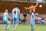 Fotbalový zápas 1. kola I. B třídy, skupiny C mezi Suchdolem a Vrdy (v oranžovém) skončil v sobotu 22. srpna 2020 výhrou domácích 2:1 po penaltách.