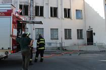 Požár v ubytovně Lorec v Kutné Hoře 14. 07. 2014