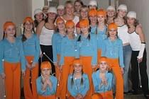 Taneční skupina Dance mažoretky z Čáslavi, které cvičí Barbora Mikešová