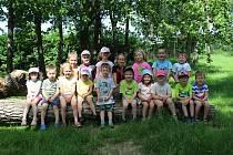 Třída Včeličky na zahradě Mateřské školy v Miskovicích.
