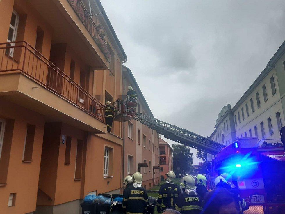 Požár čáslavského bytu.
