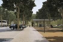 Vizualizace budoucího parkoviště v Sedlci.
