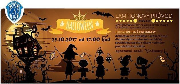 Pozvánka na Halloween vrežii FK Čáslav.