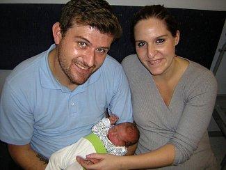 Jiří Luňáček přišel na svět 5. listopadu 2018 ve 14.28 hodin v čáslavské porodnici. Pyšní se mírami 3165 gramů a 48 centimetrů. Doma v Horních Bučicích se na něj těší maminka Michaela a tatínek Jiří.