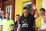 Z charitativního turnaje v malé kopané 'Kopeme za Barboru' v Červených Janovicích.
