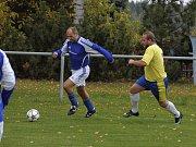 Utkání 7. kola okresního fotbalového přeboru: Zbraslavice - Sázava B 2:3.