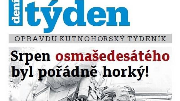 Titulní strana třicátého třetího čísla týdeníku Kutnohorský týden.