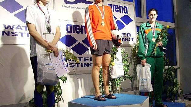 Andrea Balášová 1. místo na 100 m motýlek