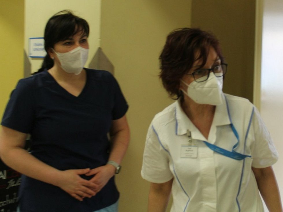 Z testu na protilátky proti covidu v Městské nemocnici v Čáslavi.