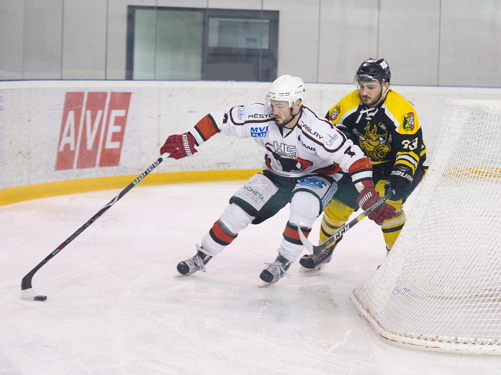 V posledním kole základní části Krajské ligy Středočeského kraje porazili hokejisté Čáslavi na svém ledě kutnohorské Sršně 2:1 po prodloužení.