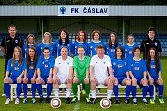 Tým žen FK Čáslav.
