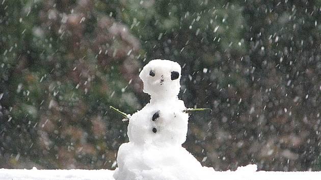 První letošní sníh zasypal Kutnou Horu. 27. října 2012