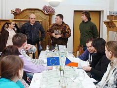 Zahájení sommelierského kurzu v prostorách voršilského kláštera.