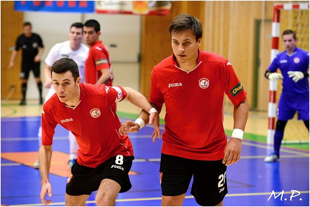 3. kolo Chance futsal ligy: Benago Zruč - Helas Brno 6:0.