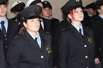 Slavnostní složení služebního slibu mladých policistů Středočeského kraje