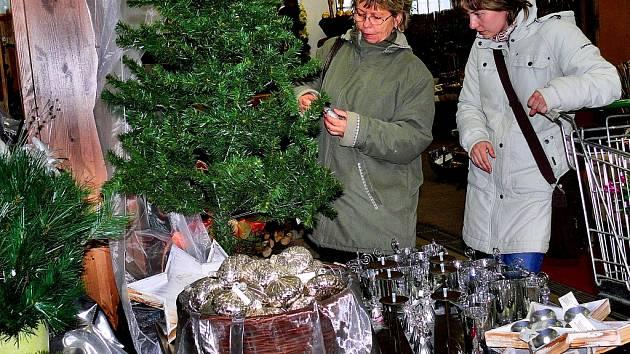 Vánoční dekorace na Kalabousku u Čáslavi