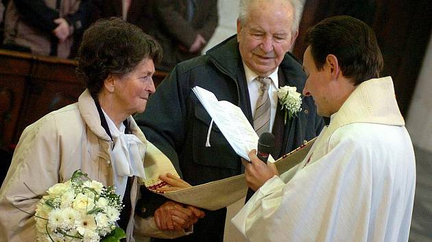 Diamantová svatba Marie a Josefa Tvrdíkových z Kutné Hory