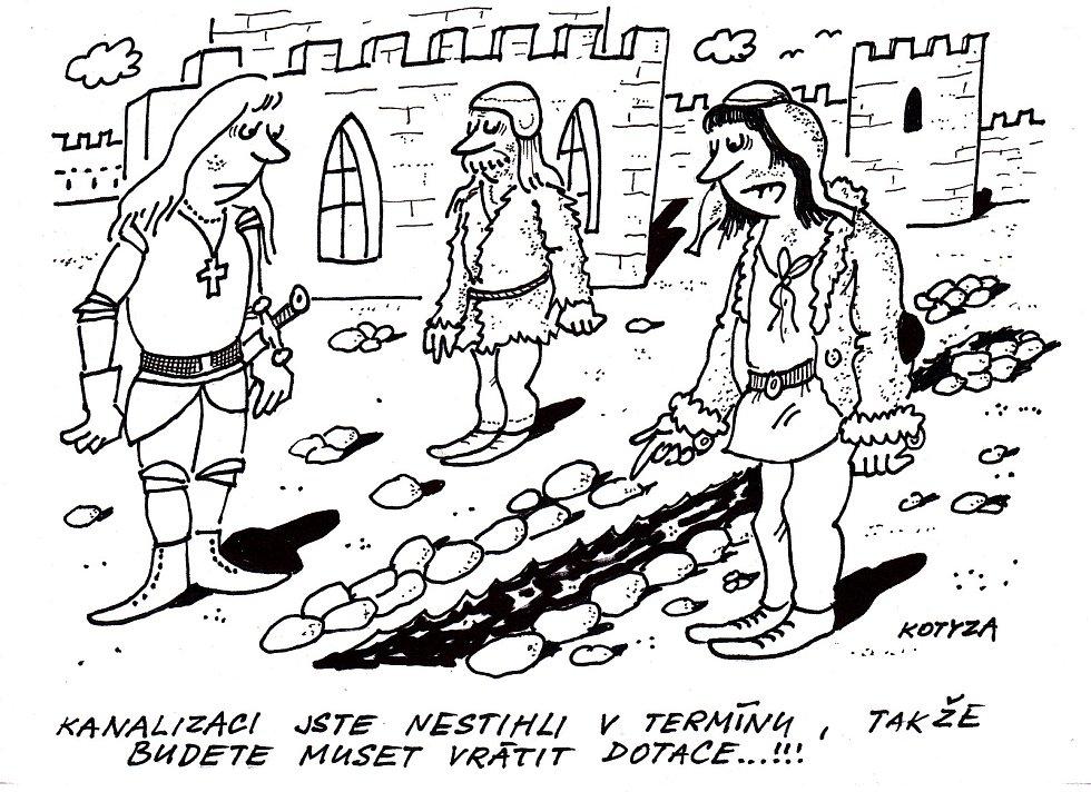 Kreslený humor karikaturisty Pavla Kotyzy.