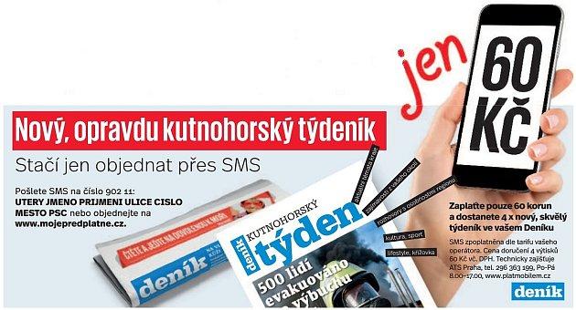 Předplatné týdeníku Kutnohorský týden.