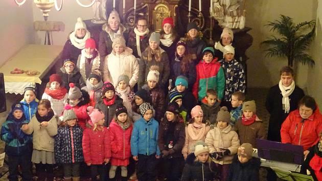 Adventní koncert v kostele v Suchdole.