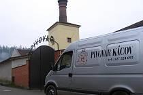 Pivovar Kácov: vstupní brána.