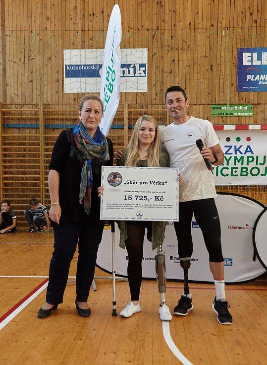Trénink s hvězdou se v rámci Sazka Olympijského víceboje odehrál v hale Bios v Kutné Hoře za účasti úspěšného paralympika Jiřího Ježka.