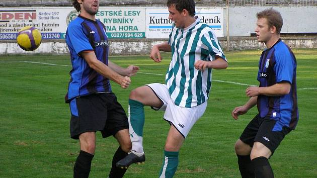 Z fotbalového mače Kutná Hora - Brandýs/Boleslav B (3:0)