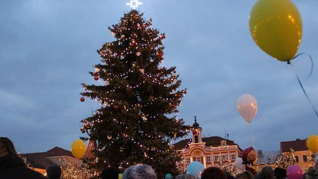 Rozsvícení vánočního stromu v Čáslavi 2017.