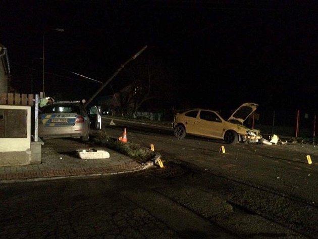 Dopravní nehoda v Malíně