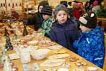 Vánoční výstava přilákala opět řadu návštěvníků.