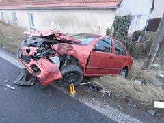 Dopravní nehoda v Církvici - středa 17. ledna 2018.