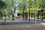 Workoutové hřiště v Čáslavi tento týden.