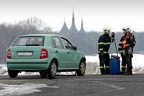 Srážka dvou osobních automobilů před ČKD v Kutné Hoře