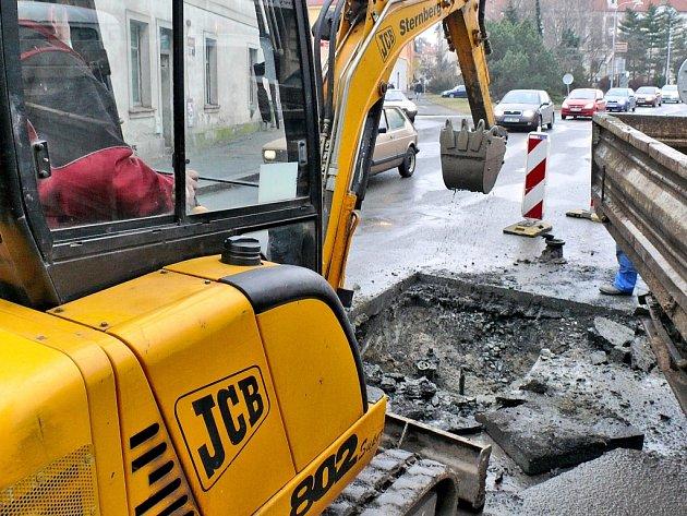 Havárie vody komplikovala dopravu v Kutné Hoře